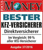 Focus Money: Bester KFZ-Direktversicherer 2016
