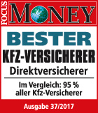 Focus Money: Bester KFZ-Direktversicherer 2017