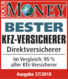Focus Money: Bester KFZ-Direktversicherer 2018
